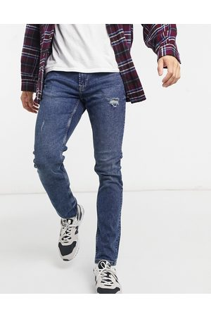 Only & Sons Slim jeans with abrasions in