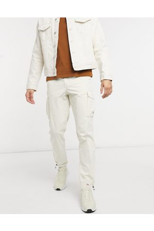 Selected Cargo trouser with cuffed hem in
