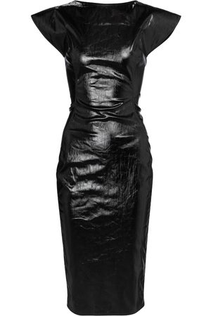 Rick Owens Sarah coated denim midi dress