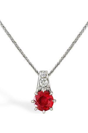 Pragnell 18kt white gold Antrobus ruby and diamond pendant necklace