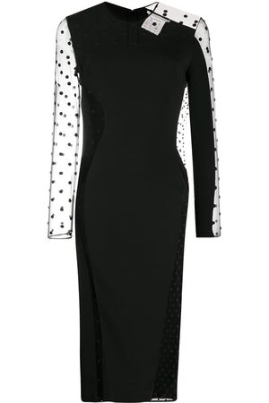 Stella McCartney Arielle polka-dot sheer midi dress