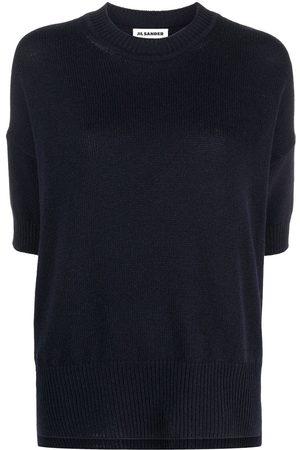 Jil Sander Crop-sleeve cashmere jumper