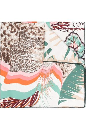 Salvatore Ferragamo Rainbow-print silk scarf
