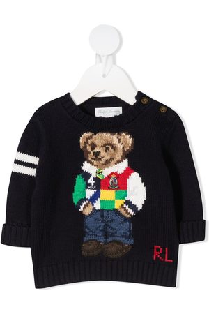 Ralph Lauren Logo bear embroidered jumper