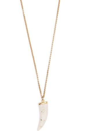 Isabel Marant Aimable horn-pendant necklace