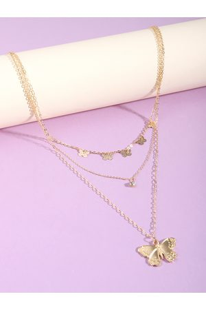 YOINS Butterfly Pendant Layered Necklace