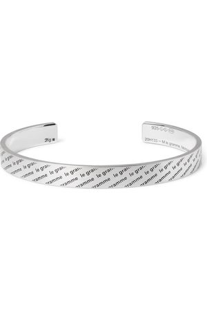 Le Gramme Men Bracelets - Le 21 Logo-Engraved Brushed Sterling Cuff