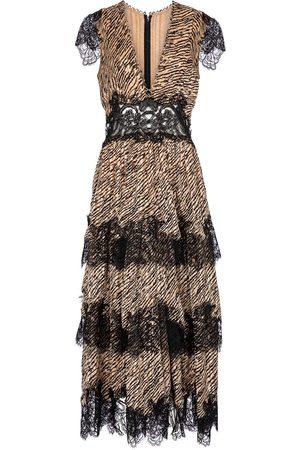 Costarellos Daralisa tiger-print chiffon maxi dress