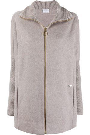 FEDELI Women Hoodies - Zip-up cashmere cardigan