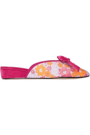 Olivia Morris At Home Women Slippers - Daphne floral-print slippers