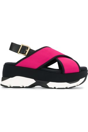Marni Platform cross strap sandals