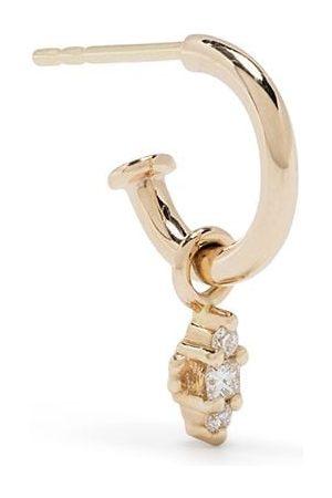 Metier by Tom Foolery 9kt yellow diamond Dala hoop earring