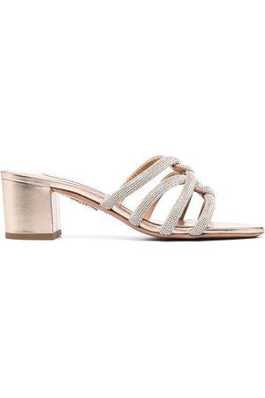 Aquazzura Crystal-embellished Moondust 50mm sandals