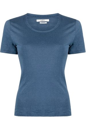 Isabel Marant Scoop neck linen T-shirt