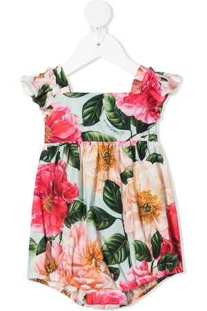 Dolce & Gabbana Floral-print cap-sleeve dress