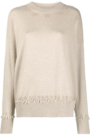Barrie Women Jumpers - Cashmere embroidered jumper