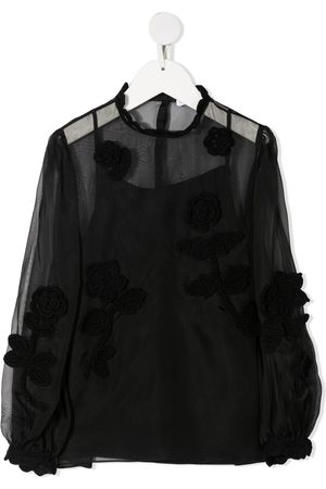 Dolce & Gabbana Embroidered sheer blouse