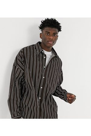 COLLUSION Men Casual - Drop shoulder oversized poplin shirt in stripe