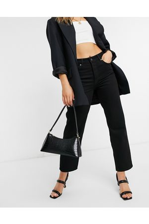 Selected Femme kate straight leg jeans with high waist in