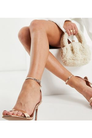 ASOS Wide Fit Nala barely there heeled sandals in rose