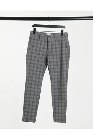 Only & Sons Check tapered trouser in