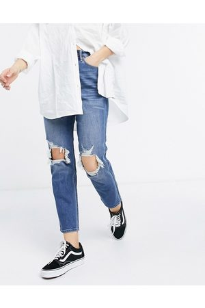 Hollister Curvy fit high rise jeans in midwash