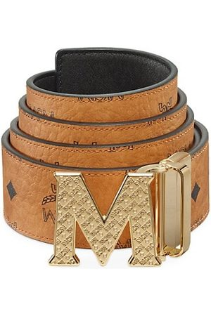 MCM Claus Reversible Logo Engraved Belt