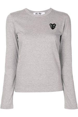 Comme des Garçons Women Long Sleeve - Logo patch T-shirt