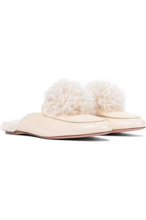 Aquazzura Foxy leather slippers
