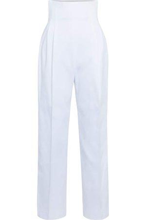 Alaïa High-rise cotton gabardine pants