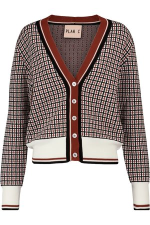 Plan C Checked cotton cardigan