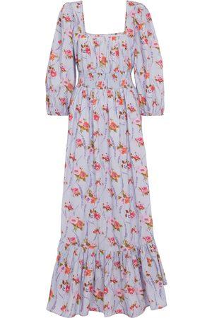 LOVESHACKFANCY Women Printed Dresses - Minnia floral cotton maxi dress