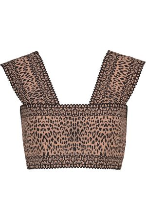 Alaïa Leopard-print crop top