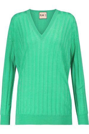 Plan C Ribbed wool sweater