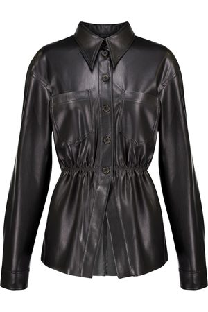 Nanushka Thalita ruched faux leather shirt