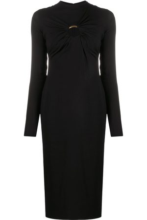 VERSACE Cut-out long-sleeve midi dress