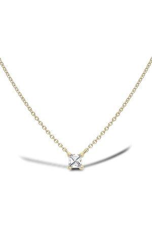 Pragnell 18kt yellow RockChic diamond solitaire necklace