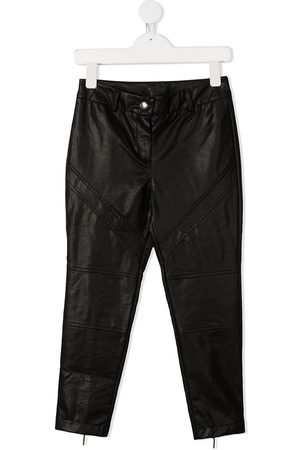 Alberta Ferretti TEEN high-rise faux-leather trousers