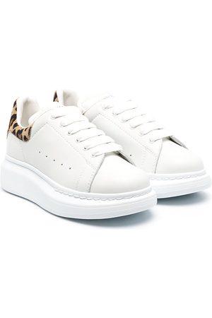 Alexander McQueen Girls Sneakers - Leopard-print oversized sneakers