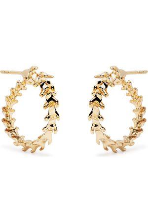 SHAUN LEANE Serpent Trace mini hoop earrings
