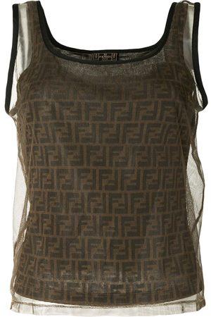 Fendi Women Tank Tops - FF pattern tank top