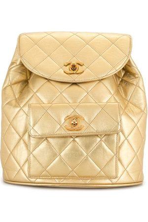 CHANEL Women Rucksacks - 1992 diamond quilted flap drawstring backpack