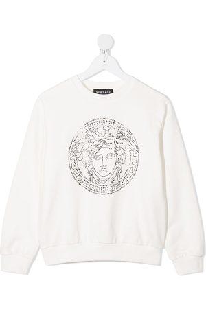 VERSACE Medusa head crystal-embellished sweatshirt