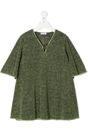 Oseree Glitter flared dress