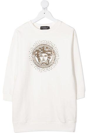 VERSACE Medusa head crystal-embellished sweatshirt dress