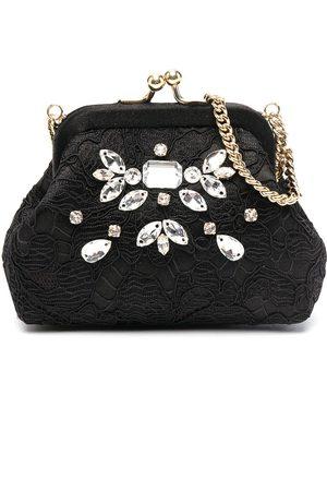 Dolce & Gabbana Crystal-embellished lace bag