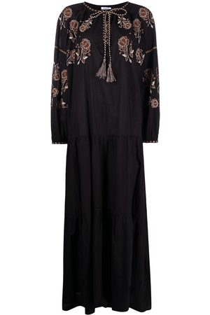 P.a.r.o.s.h. Flower embroidery maxi dress