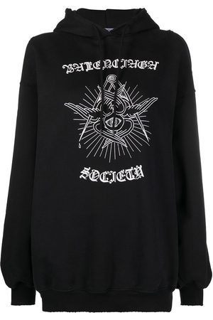 Balenciaga Graphic-print drawstring hoodie