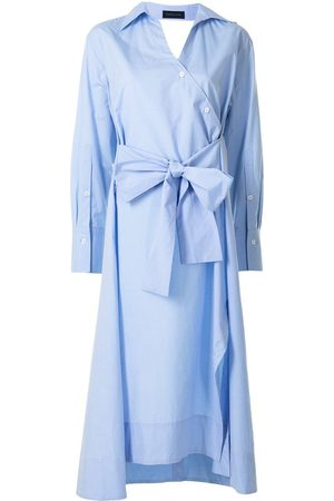 EUDON CHOI Tie-waist shirt dress