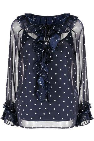 P.a.r.o.s.h. Women Blouses - Polka-dot pattern blouse
